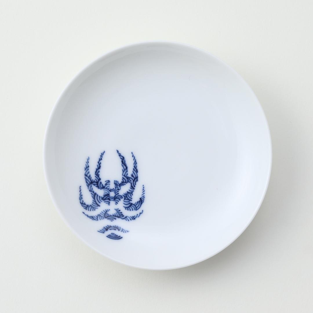 隈取り豆皿