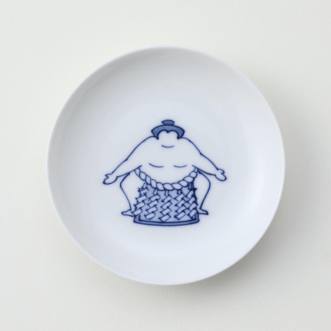 相撲不知火型豆皿