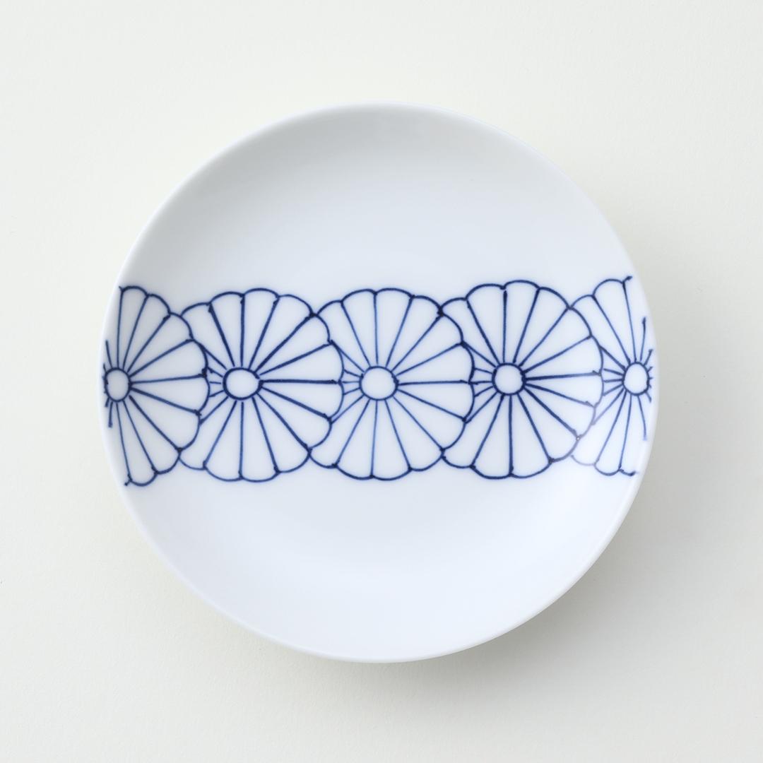 菊一列豆皿
