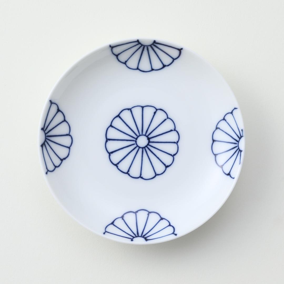 菊四方豆皿