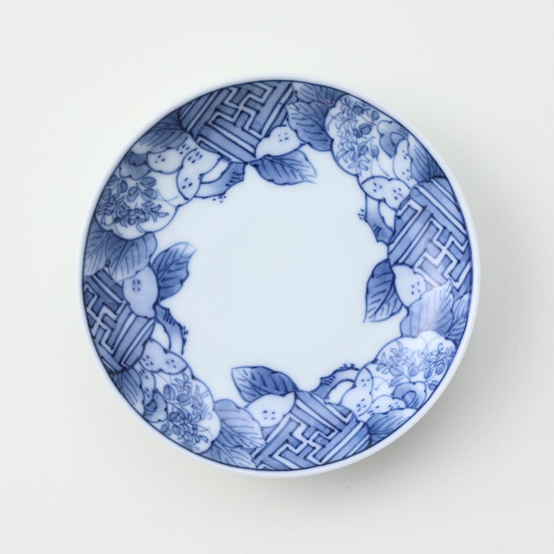 桃祥瑞豆皿