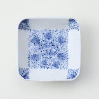 市松牡丹唐草豆皿