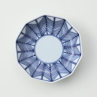 矢羽根豆皿