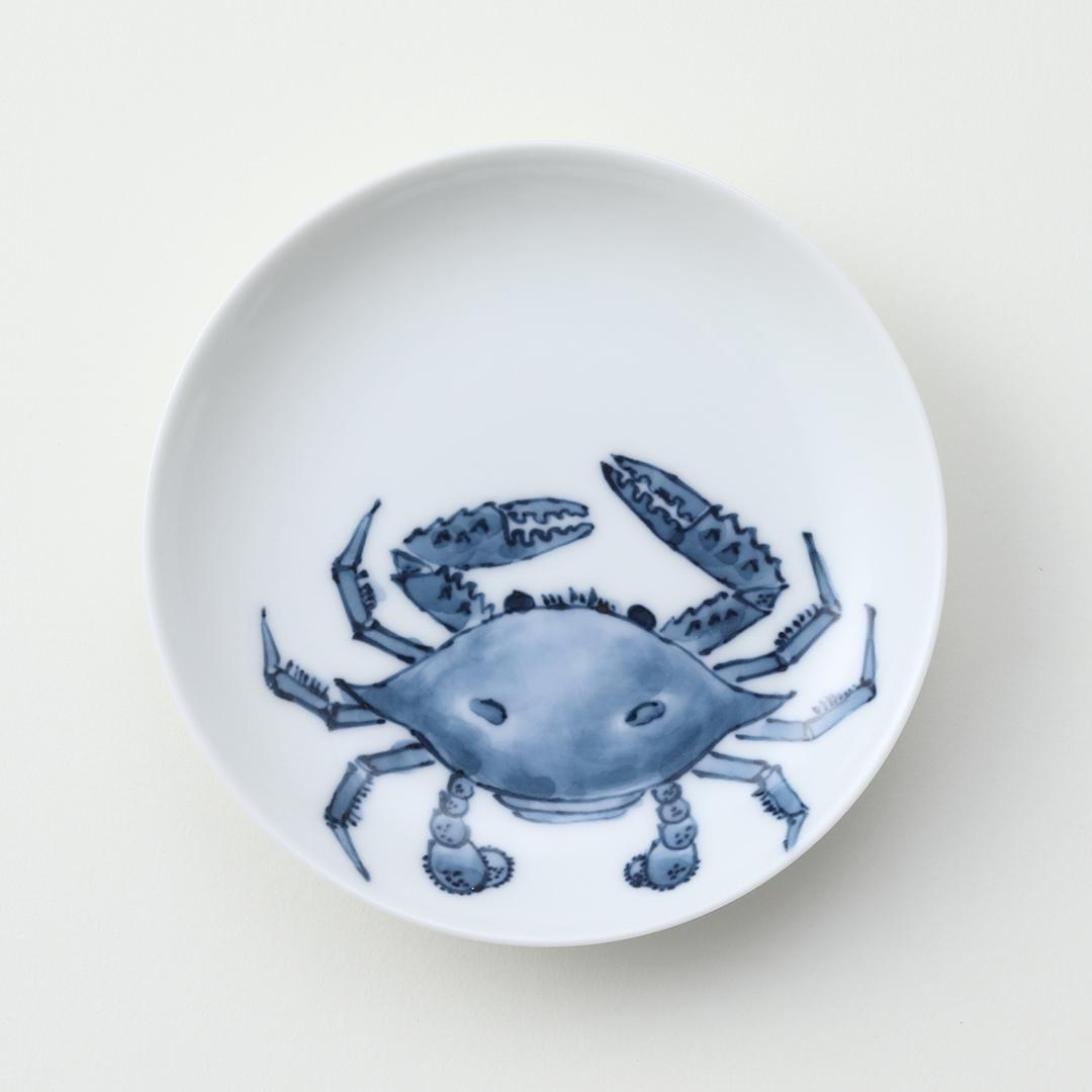 魚紋 <かに>豆皿