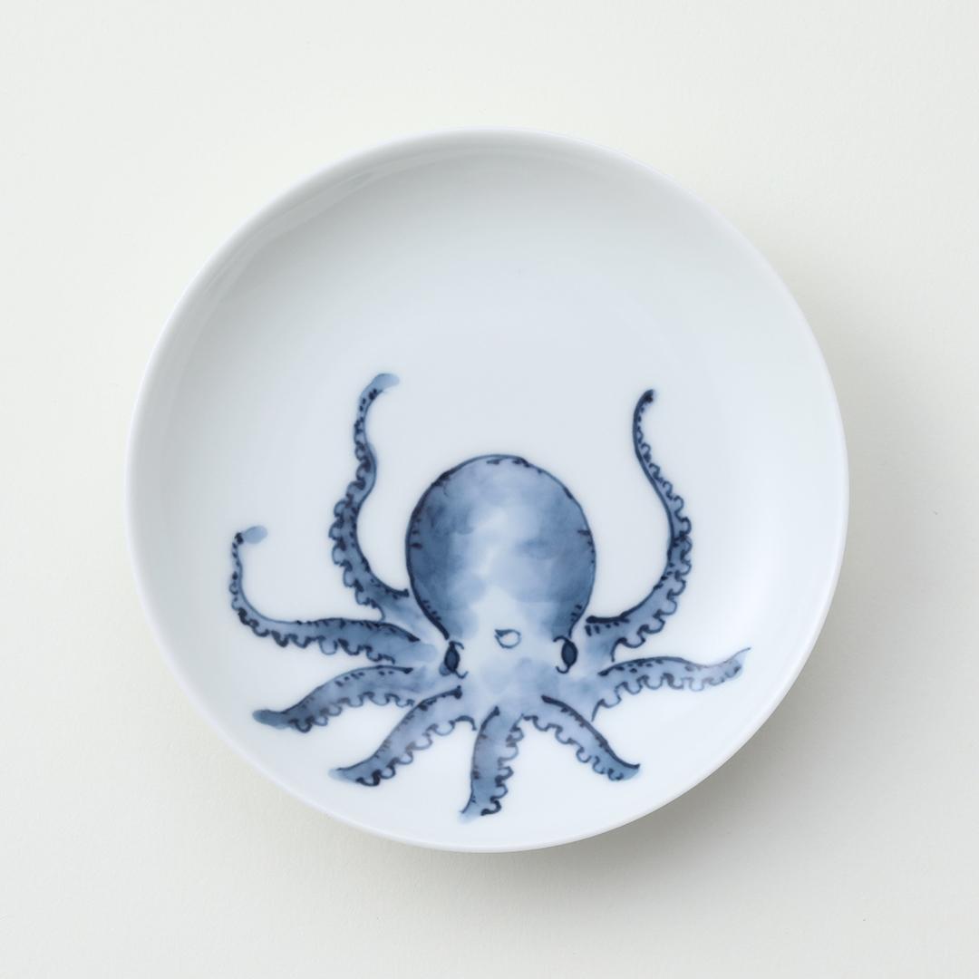 魚紋 <たこ>豆皿