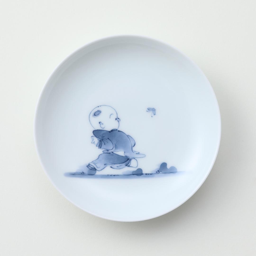 創作唐子豆皿 <ふりむき>