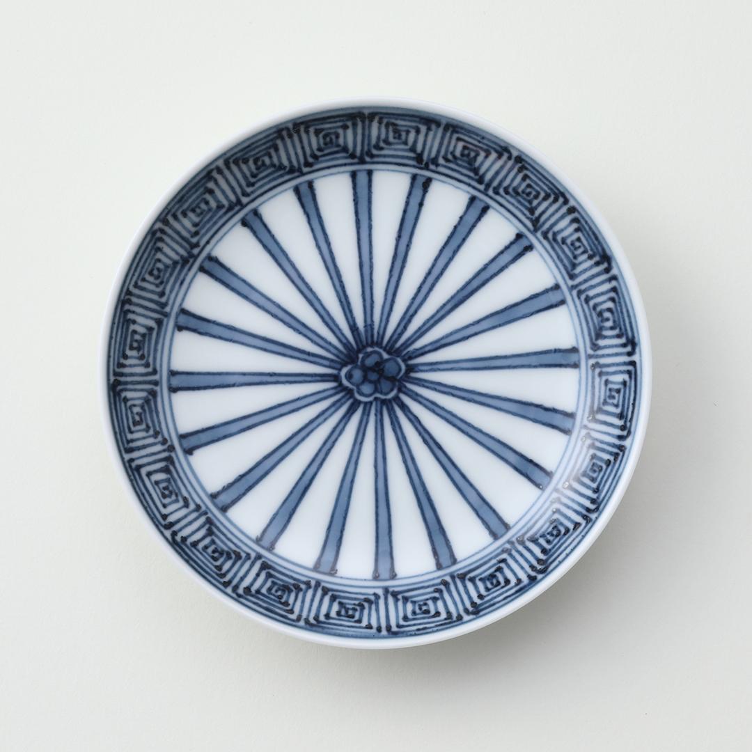 十草雷文豆皿