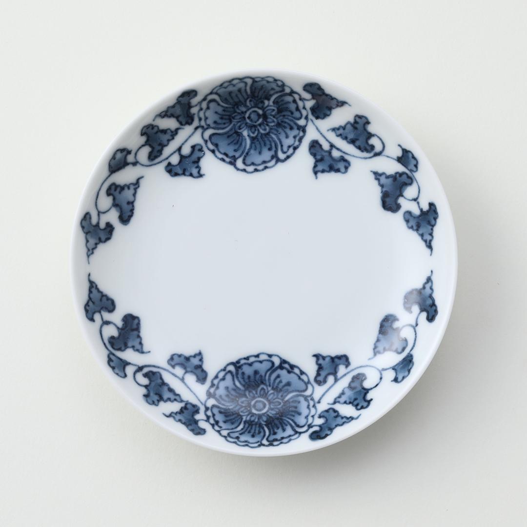 濃花唐草豆皿