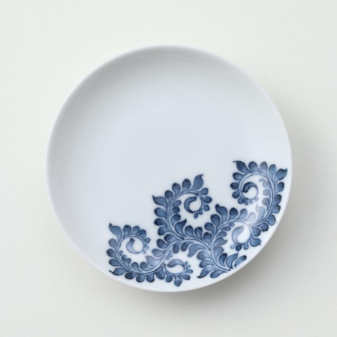 葉唐草豆皿