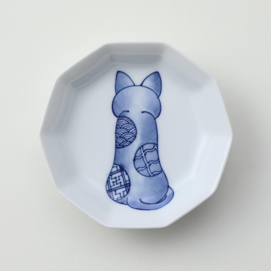 ねこに丸紋豆皿