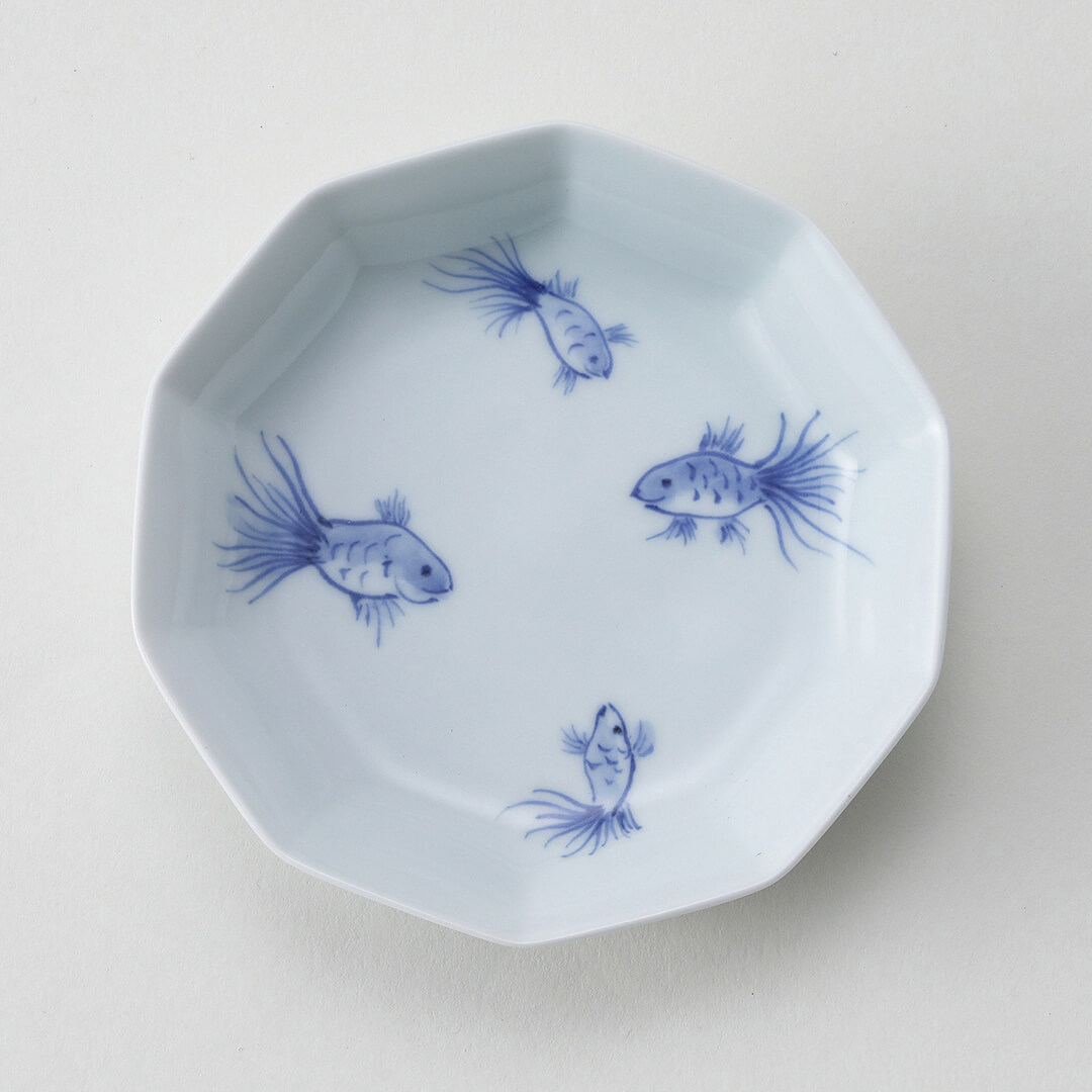 金魚シリーズ豆皿(4匹)