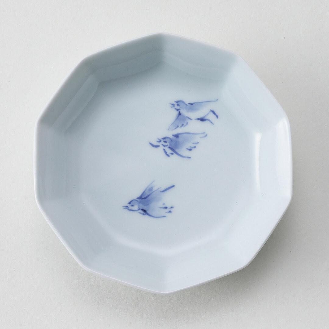 雀シリーズ豆皿(3羽)