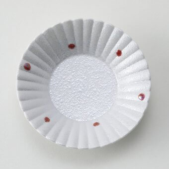 五色水玉パール豆皿(赤)
