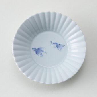 雀シリーズ豆皿(2羽)