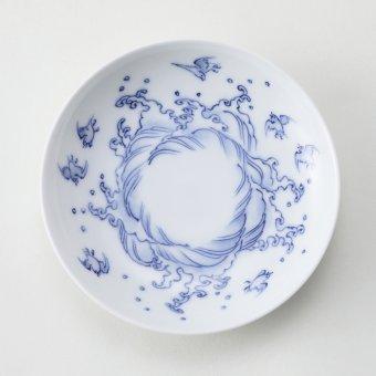 古平戸波千鳥紋豆皿