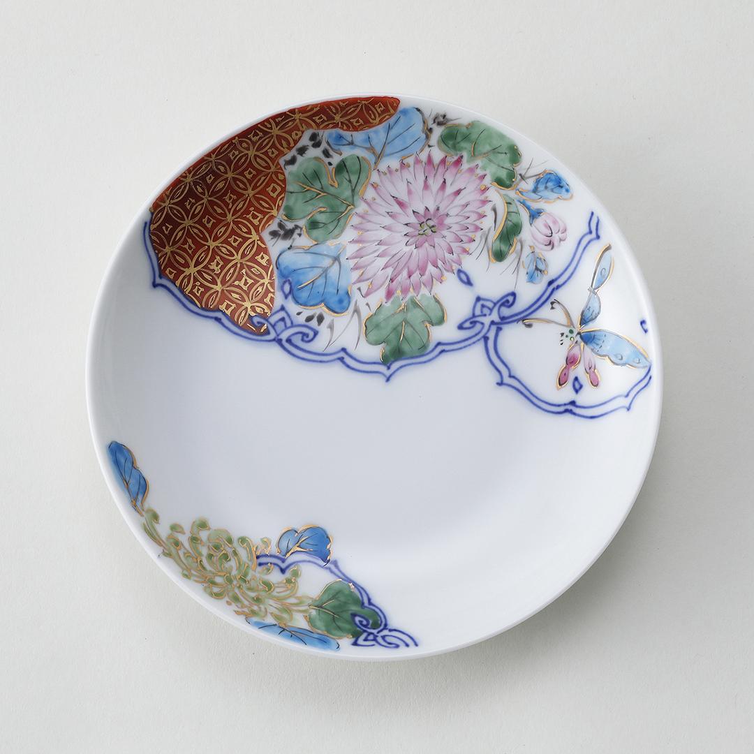 花鳥金彩豆皿