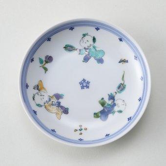 色絵唐子豆皿