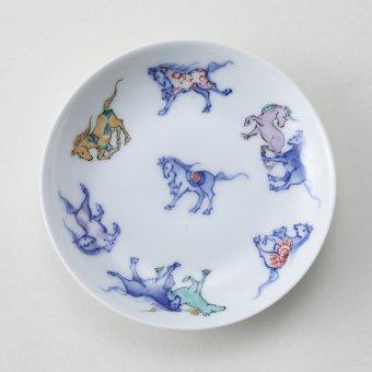馬九行久(うまくいく)豆皿