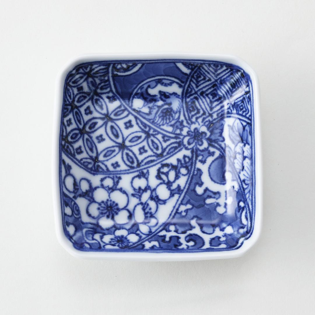 祥瑞文豆皿(白梅)