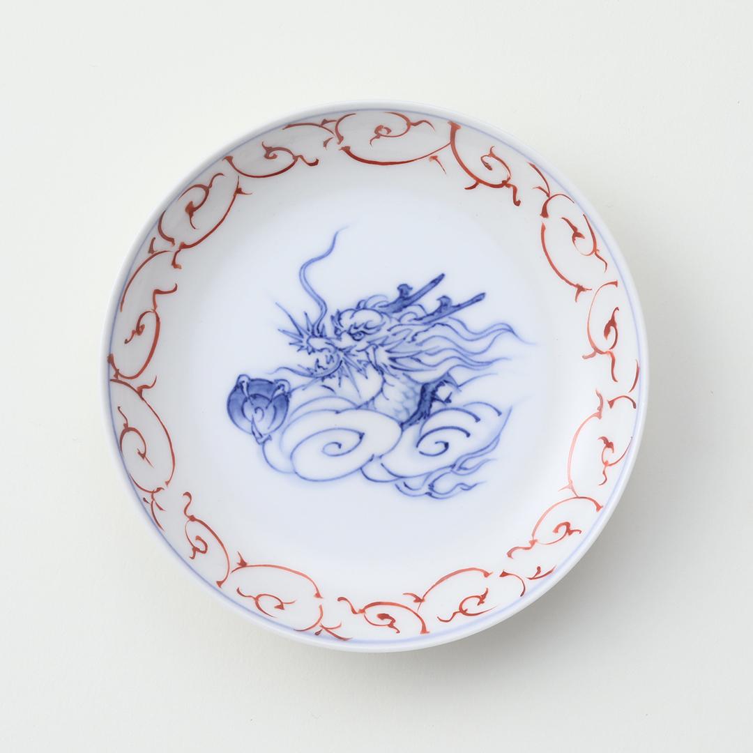 赤絵唐草 干支 <辰>豆皿