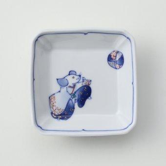 色絵 干支ねずみ豆皿