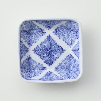染付 ミル紋豆皿