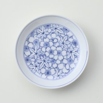 竜田川豆皿