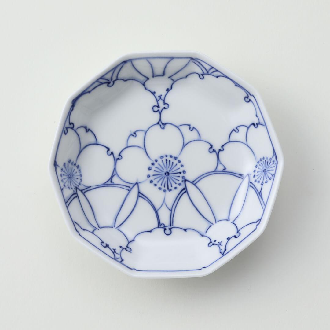 桜ウサギ紋豆皿