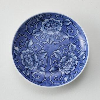 牡丹絵豆皿