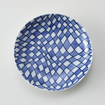 変型市松絵豆皿