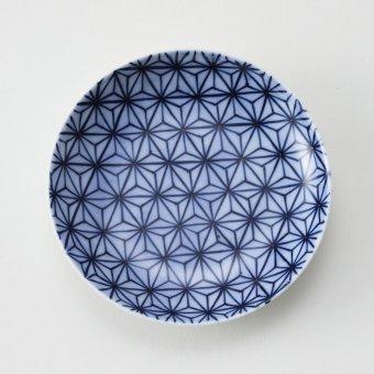 麻の葉紋豆皿