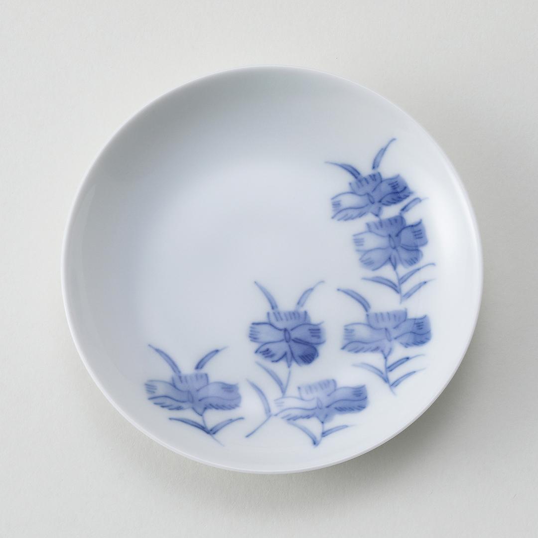 平戸草花文豆皿(撫子)
