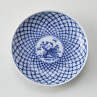 七宝唐子文豆皿