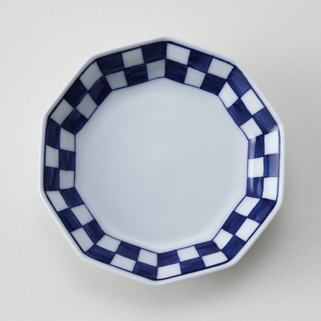 市松文豆皿