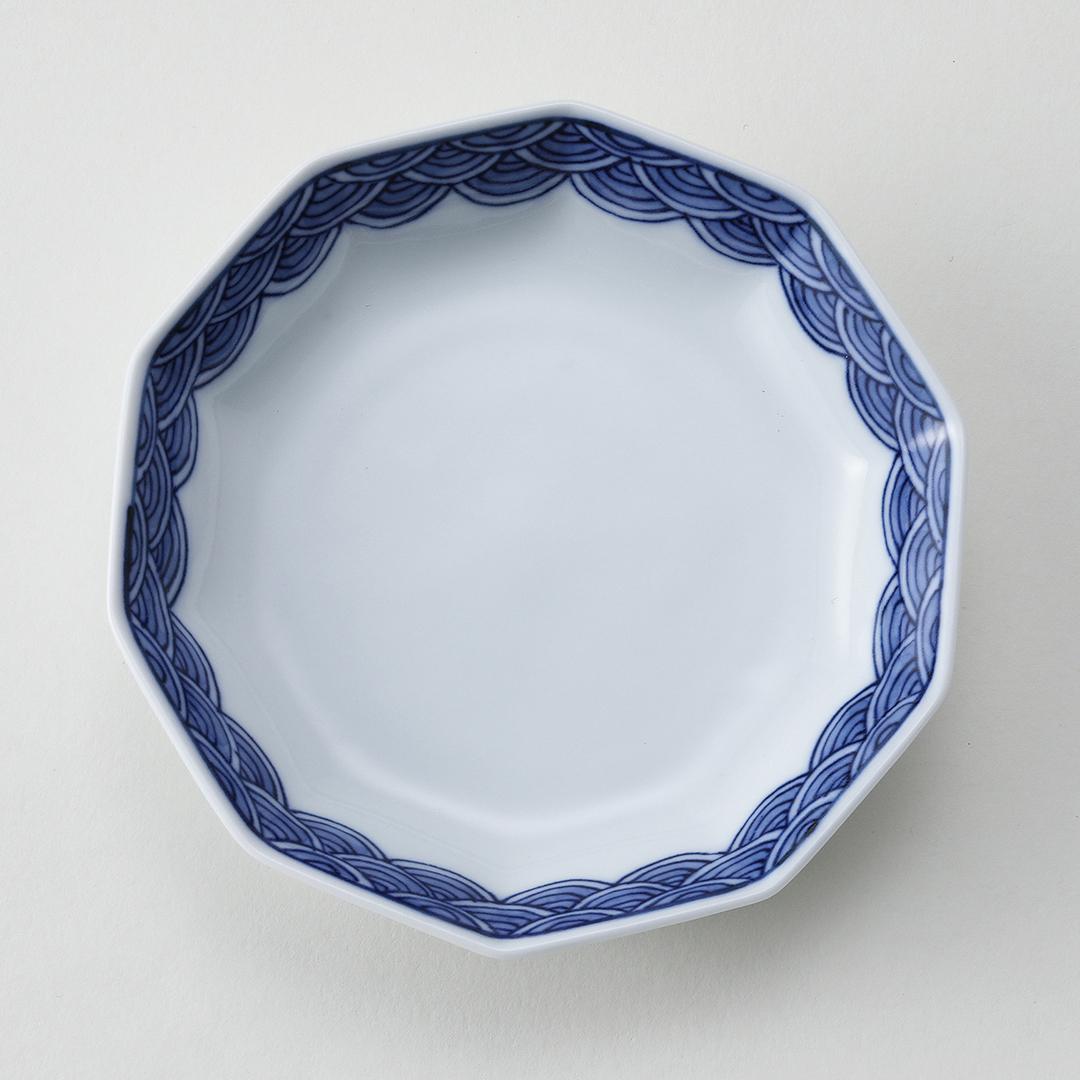 青海波文豆皿