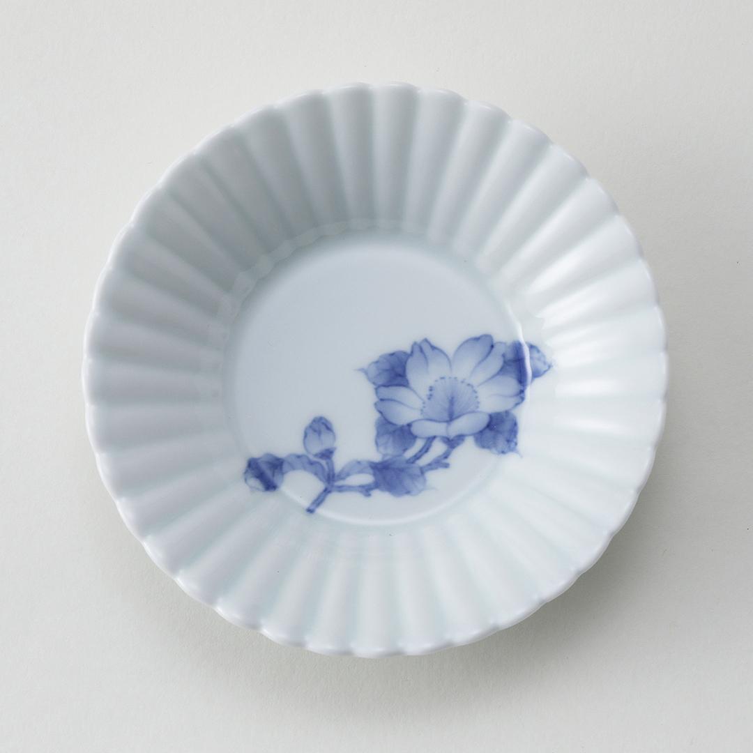 山茶花文豆皿