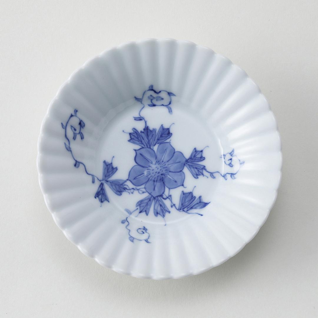 平戸草花文豆皿(鉄線)