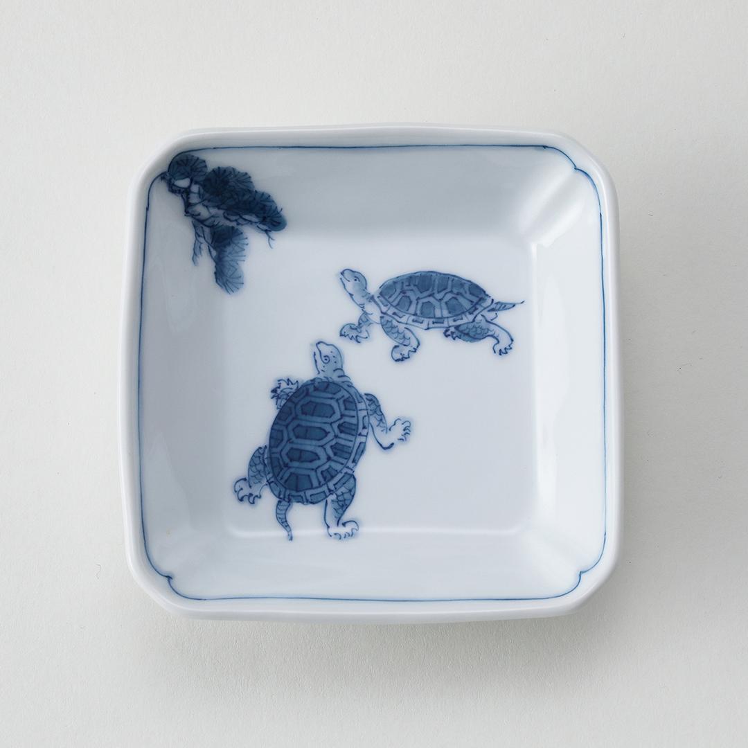 松に亀豆皿