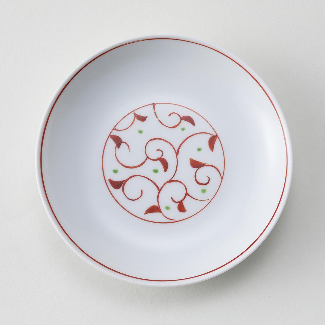 太白赤つる草豆皿