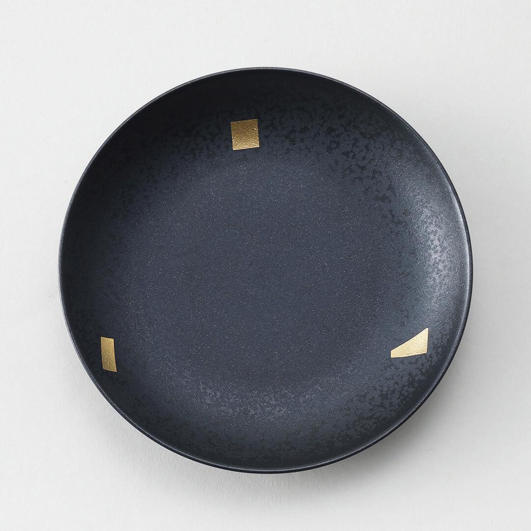 銀錆金箔豆皿