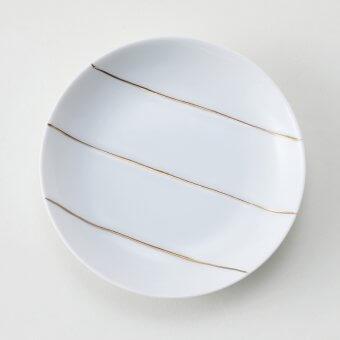 金三本ライン豆皿