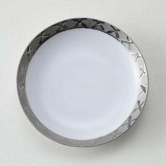 渕プラチナ地紋豆皿