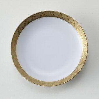 渕金地紋豆皿