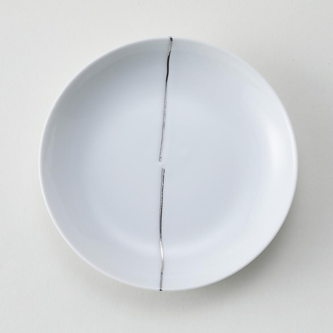 プラチナ一本ライン豆皿