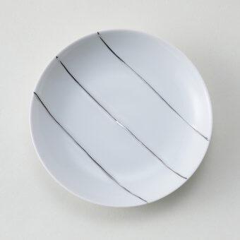 プラチナ三本ライン豆皿