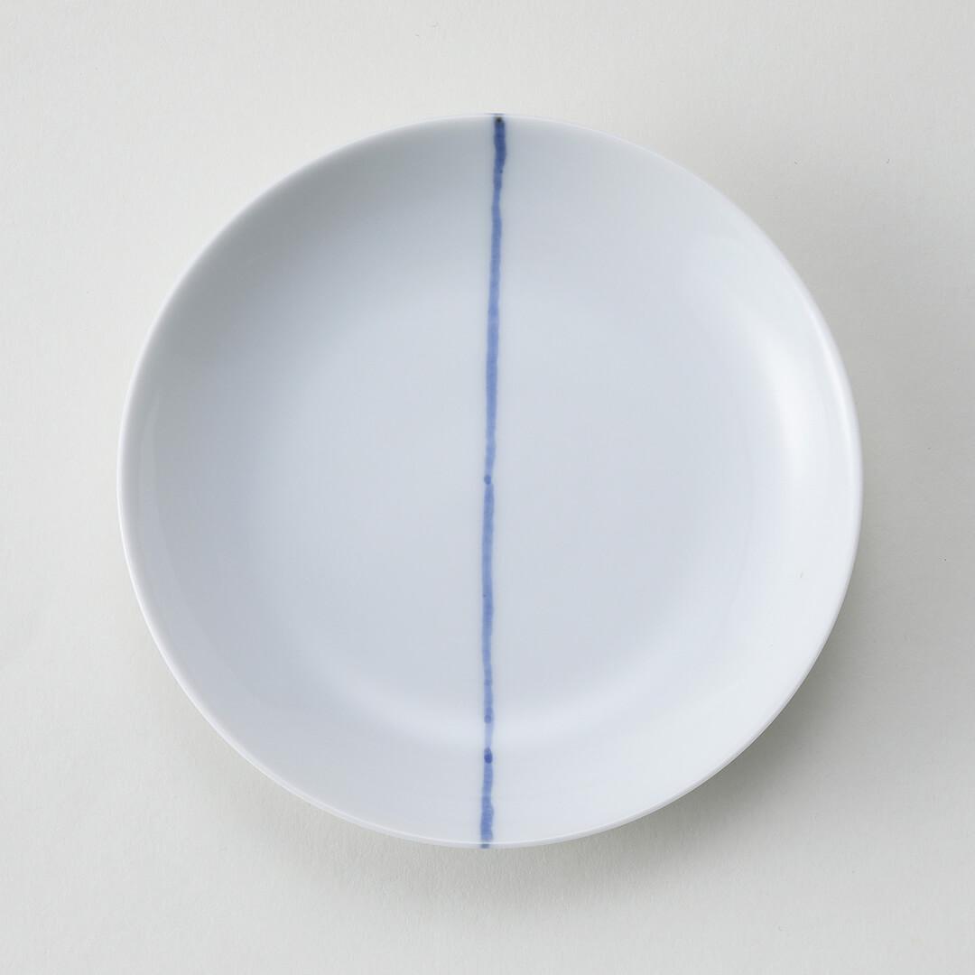 呉須一本ライン豆皿