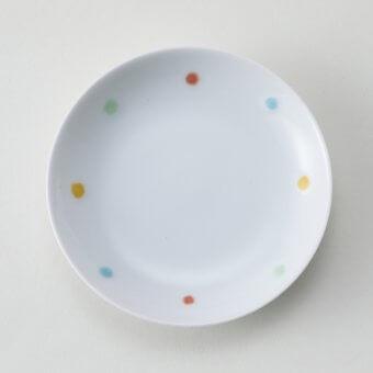 四色水玉豆皿(本窯)