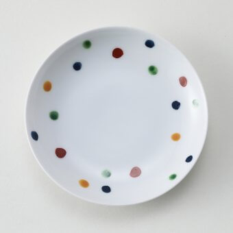 錦四色水玉豆皿
