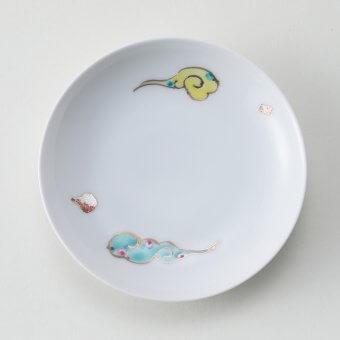 錦雲絵金銀箔豆皿