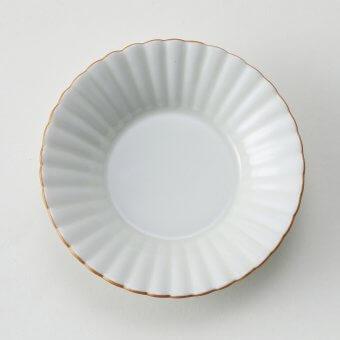 渕金彩豆皿